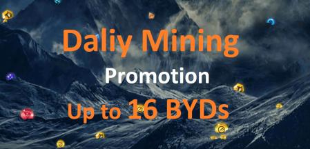 Bityard Daliy Mining Promotion - Up to 16 BYDs