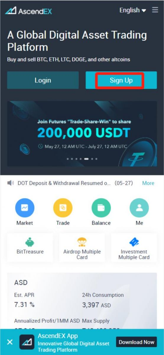 How to Open a Trading Account in AscendEX