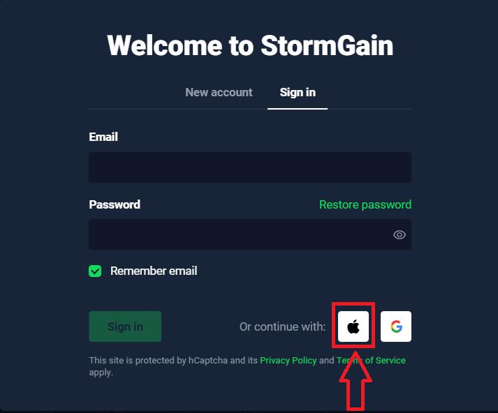 How to Login to StormGain